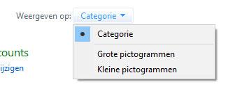 Configuratiescherm weergave