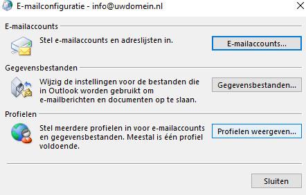 E-mailconfiguratie