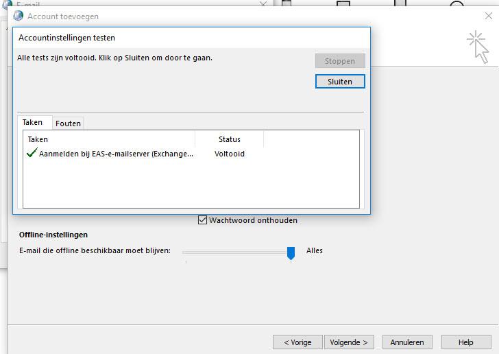 Voortgangscherm instellen in Outlook